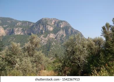 An unbelievably high mountain on the way to Kabak Köyü, Turkey