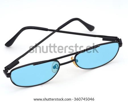 58c09e5bd65c Unbranded Glasses Blue Lenses Dyslexia Visual Stock Photo (Edit Now ...