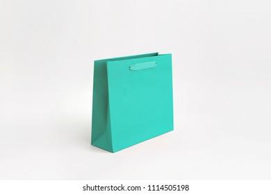Unbranded Magnolia Supreme Paper Bag Turquoise Medium