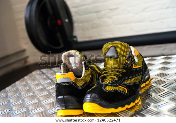 Gym Blackyellow Comfortable Stock Photo