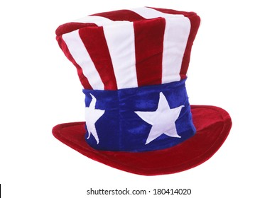 Uncle Sam hat isolated over white background
