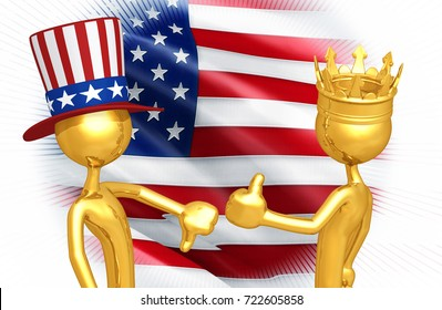 Uncle Sam Thumbs Down The King Of America Thumbs Up Original 3D Characters Illustration