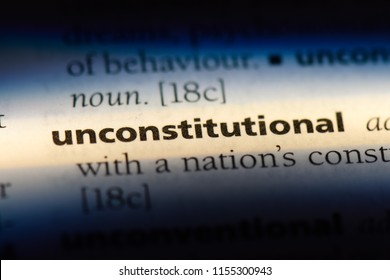 unconstitutional word in a dictionary. unconstitutional concept.
