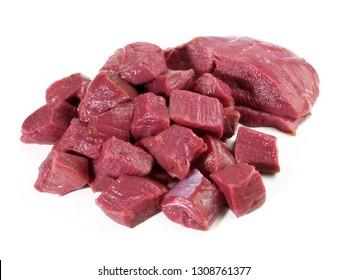 Uncoocked Deer Ragout - Wild Game Meat