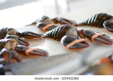 Uncooked Lobster Claws and Tails