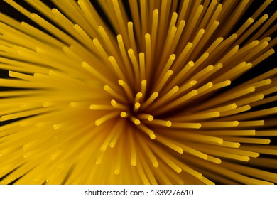 Uncooked Spaghetti with Starburst Shape