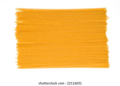 Uncooked whole wheat pasta