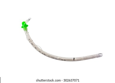 uncuffed endotracheal tube isolated on white background