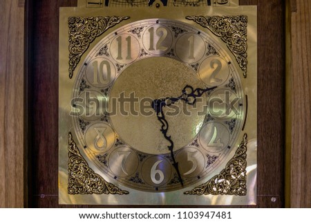 Unde Making Grandfather Clock Stock Photo Edit Now 1103947481
