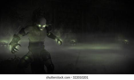 Undead necromancer character