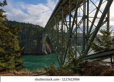 Under the Bridge at Deception Pass State Park in Washington State