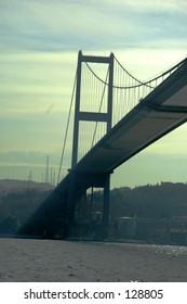 under the bridge over Bosphorus, Istanbul, turkey