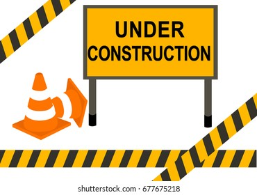under condtruction warning