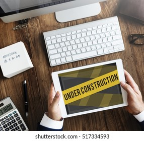Under Construction Alert Safety Warning Privacy Concept