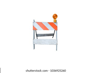 Under Construction Barrier - White background