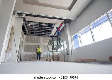 Under construction interior work