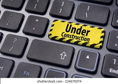 under construction message on enter key of keyboard, for website template.