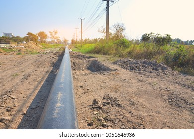 Under Construction of Oil Pipeline