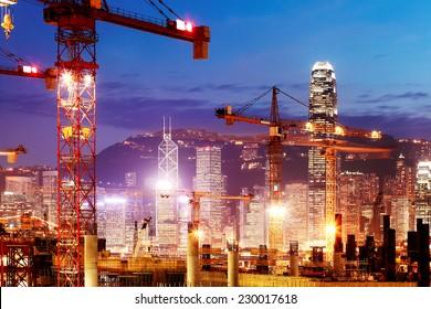 Under Construction works of the Hong Kong section of Guangzhou Shenzhen Hong Kong express rail link