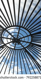Under a dome looking up at the sky