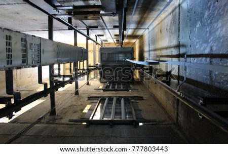Under Inside Elevatorelevator Under Construction Stock Photo Edit
