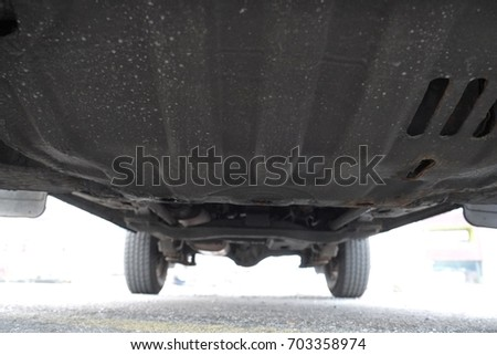 Under a parked car