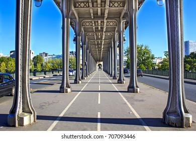 Under Passy bridge, Paris, France.