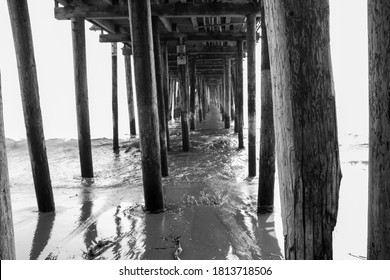 Under the pier at Capitola Beach