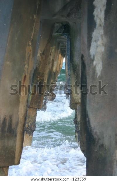 Under the pier in Pompano
