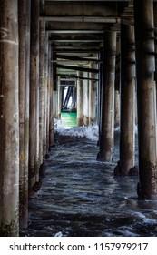 Under the pier of Santa Monica