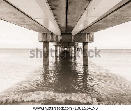 Under the Pier Sepia