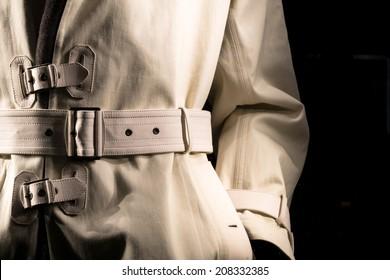 Undercover Cop Retro-Style Trench Coat