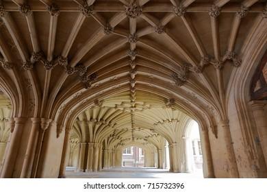 The Undercroft of Lincoln's Inn Chapel in London