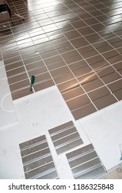 The underfloor heating - building a family house
