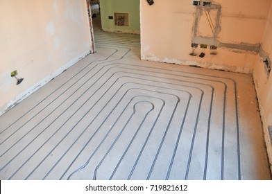 Underfloor heating and cooling indoor climate control for thermal comfort using conduction radiation and convection
