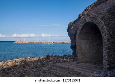 Underground access beach of La Aldea, Gran Canaria