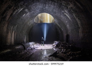 Underground Air Shaft - Old abandoned Train Tunnel