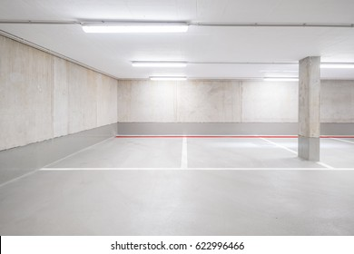 underground car parking deck - empty garage