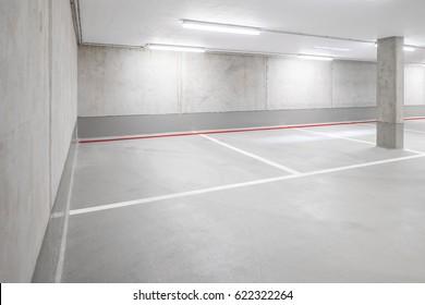 underground car parking garage - car park