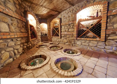 underground cellar for storing wine