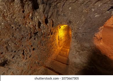 Underground city in Derinkuyu.