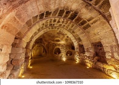 Underground city in Uchisar.