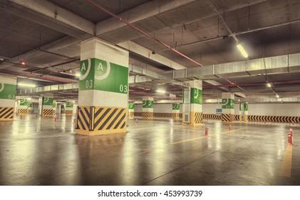 Underground Concrete Parking Garage
