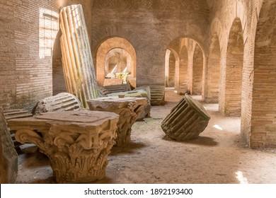 Underground of the Flavian Amphitheater (Pozzuoli), Italy