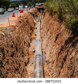 underground gas piping construction & Underground Gas Line Images Stock Photos u0026 Vectors (10% Off ...