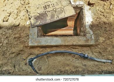 underground leaking pipe.