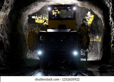 Underground mine drilling activity