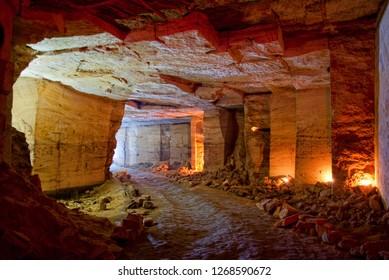 Underground Odessa catacombs. Ukraine.