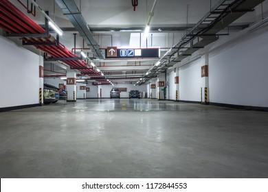 the underground parking