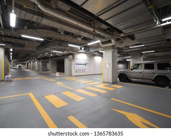 Underground parking lot of building